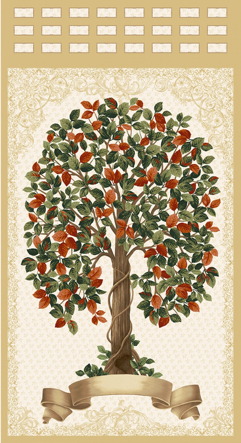 "Family Tree Multi 24"" Panel by RJR, Family Roots - Audrey Wright, 3554J-001"