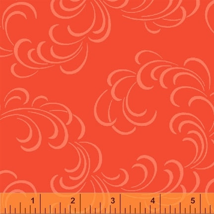 "Orange Wisp of Wind 108"" fabric,  Windham, 39512-5"