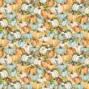 "Tan Packed Pumpkins 44"" fabric, Wilmington, 39657-254, Seeds of Gratitude"