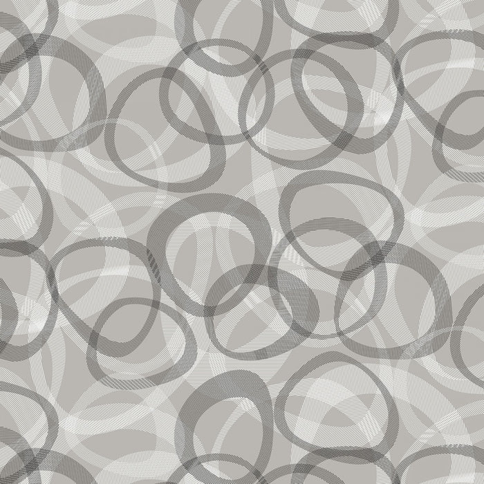 "Gray Transparencies Circles 108"" fabric by Studio-E,  4526-90"