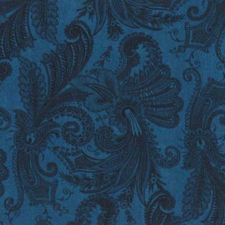 "Blue Paisley Marrakesh 108"" quilt fabric, Wilmington, 4726-444"