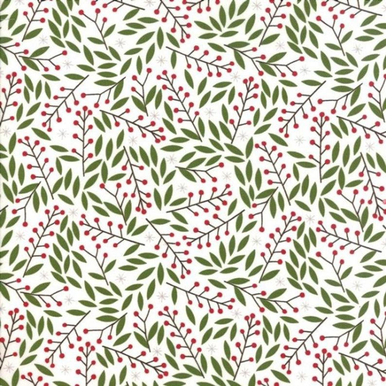 "Merriment Holly 44"" fabric by Moda, 48273 11"