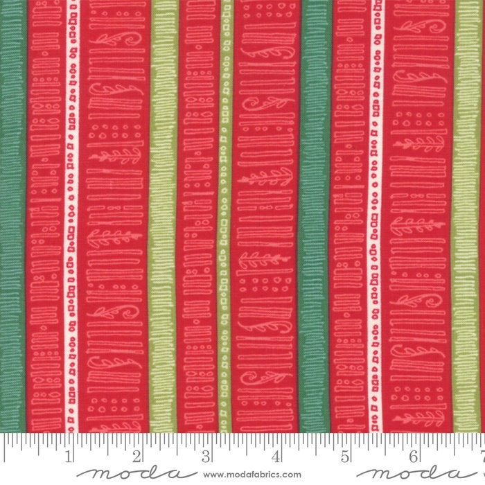 "Splendid Red Stripe 44"" fabric by Moda, Robin Pickens, 48654 13"