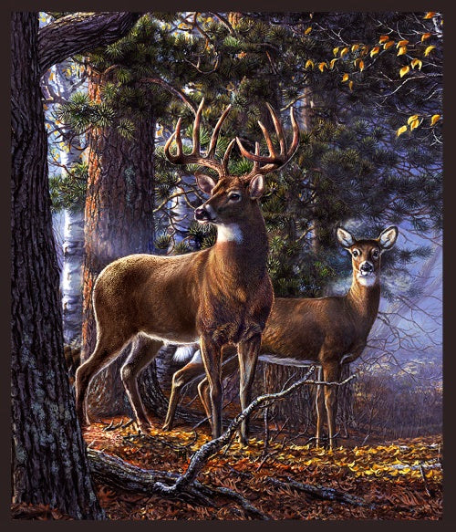 "Deer Panel, 36"" x 44"", Windham,One of a kind, 50061DP-X"