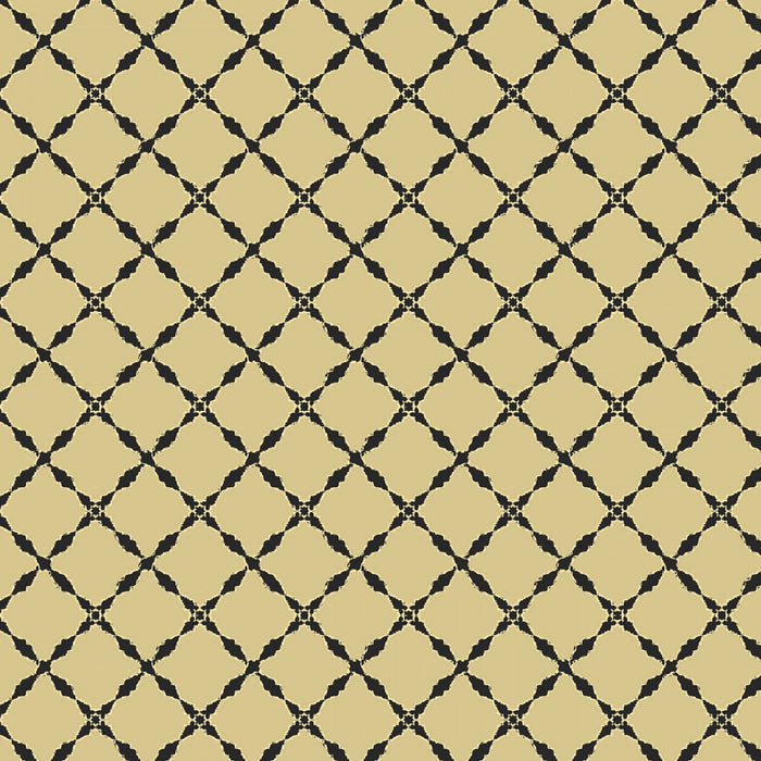 "Green / Tan Lattice Metallic 44"" fabric, Windham, 51225M-8, The Grand Illusion"