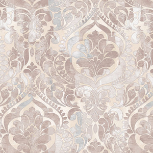 "Taupe Damask 108"" fabric by Studio-E , 5236-33"