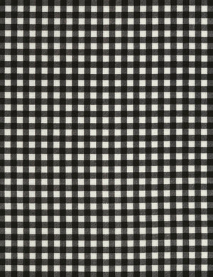 "Black and White Check, 44"" fabric, Timeless Treasures,  Plaid-C5576-Piano"
