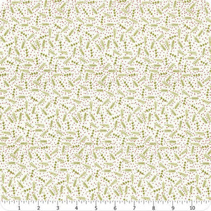 "Cream Trees 44"" fabric by Moda, 5776 24, The Christmas Card"