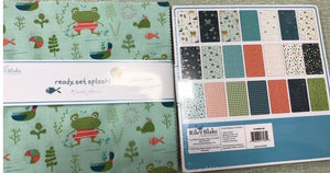 "Frogs and Turtles Layer Cake (10"" squares), Riley Blake,  Ready set splash 10-9890-42"