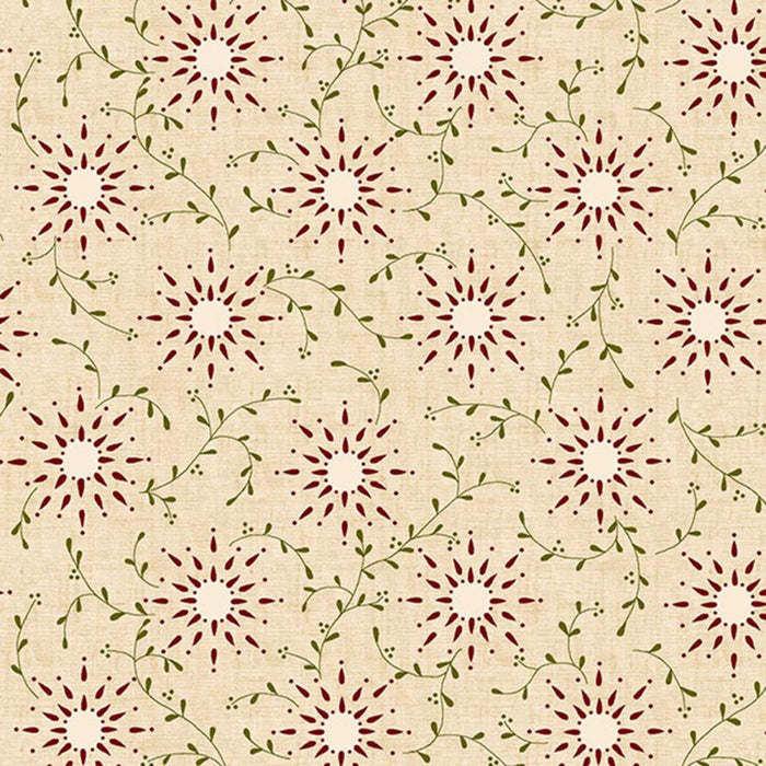 "Cream Prairie Vine 108"" fabric by Henry Glass, 6235-40"
