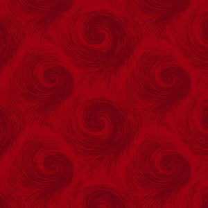 "Red Breezy swirl 108"" quilt fabric, Henry Glass,  6659-88"
