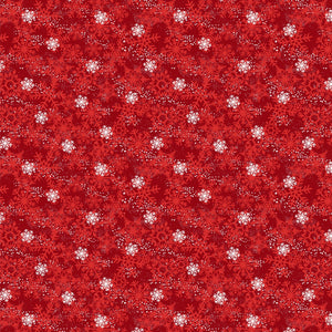 "Red Winter Time Snowflakes 44"" fabric, Wilmington Prints, 67576-313"