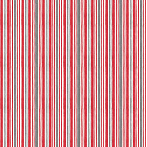 "Red Winter Time Stripe 44"" fabric, Wilmington Prints, 67577-391"