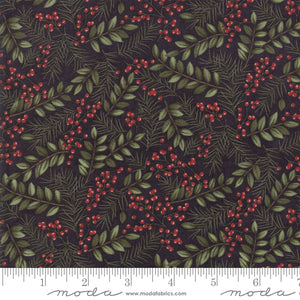 "Ebony Winter Greens 44"" fabric by Moda, Winter Manor,  6772-17"