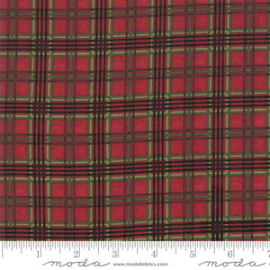 "Cardinal Plaid 44"" fabric by Moda, Winter Manor, 6776-15"