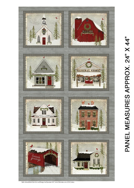 Snow Village Panel by Benartex, 6880-99