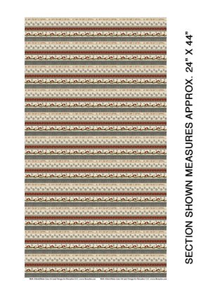 "Beige Stripe 44"" fabric, Benartex, 6882-76, Snow Village"
