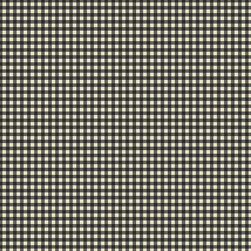 "Black Check 44"" fabric, Benartex, 6886-12, Rustic Village"
