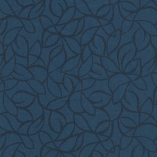 "Blank 108"" Fabric Blue Windsor leaves 7202-077"