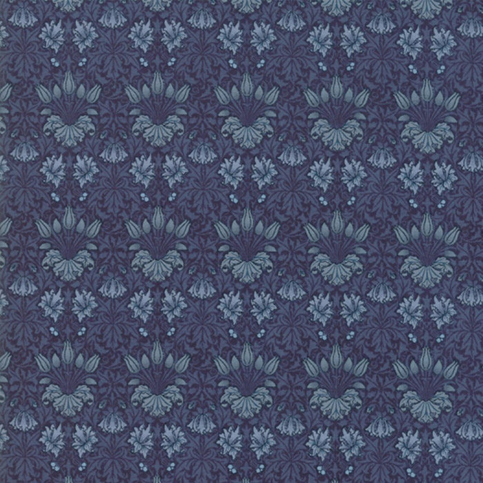 "Indigo Blue 44"" fabric, Moda, 7342 16, May Morris"