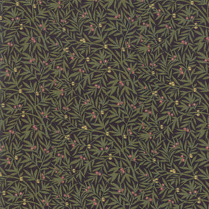 "Ebony Dining Room 44"" fabric by Moda, 7345 18, May Morris"