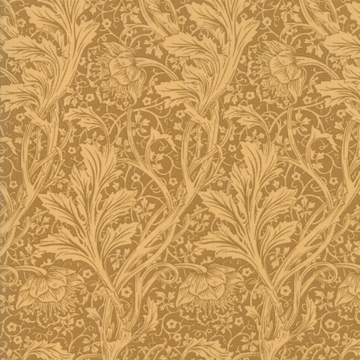 "Arcadia Gold 44"" fabric by Moda, 7346 13, May Morris"