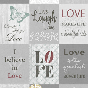 "Words to Live by 24"" panel by Contempo,  7702B-99"