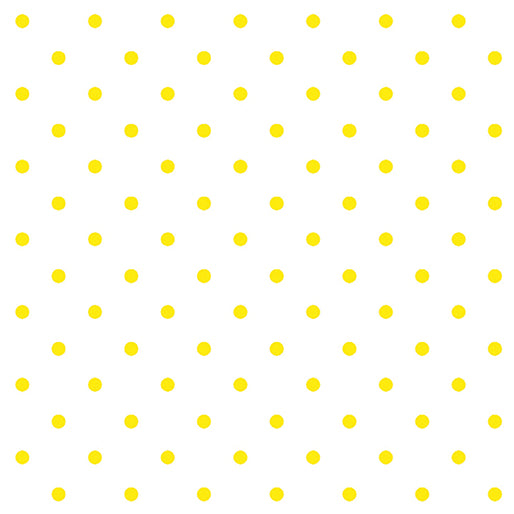 "White Lemon Drop Dots 44"" fabric, Kanvas studio, 7840-09, Lemon Fresh"