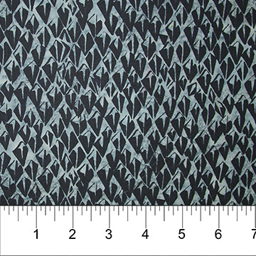 "Pewter Abstract Diamonds Banyan Batiks Classics, Northcott, 44"" batik, 81204-93"