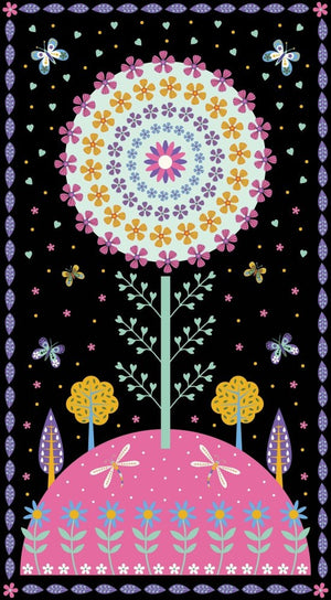 Large Flower Panel for girls, Blank Quilting, 8363-99, Daydream by Suzy Taylor