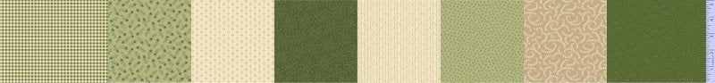 "Green and Cream 5"" stripes 44"" fabric, Marcus, R238424-0514, Patches of Joy"