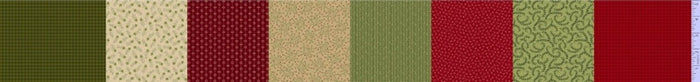 "Burgundy, Cream and Green 5"" stripes 44"" fabric, Marcus, R238425-0523, Patches of Joy"
