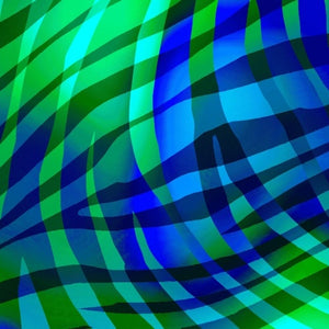 "Green and Blue Zebra Stripes 108"" quilt fabric, Henry Glass,  8915W-77"