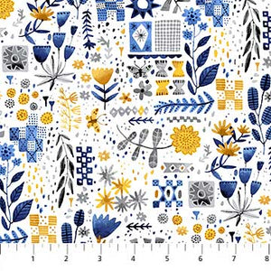 "Figo 44"" Eloise Garden 90031-52  sold by the 1/4 yard"