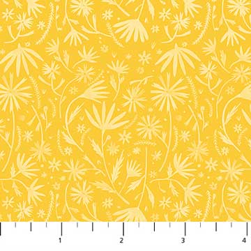 "Figo 44"" Eloise Garden 90035-52 yellow sold by the 1/4 yard"