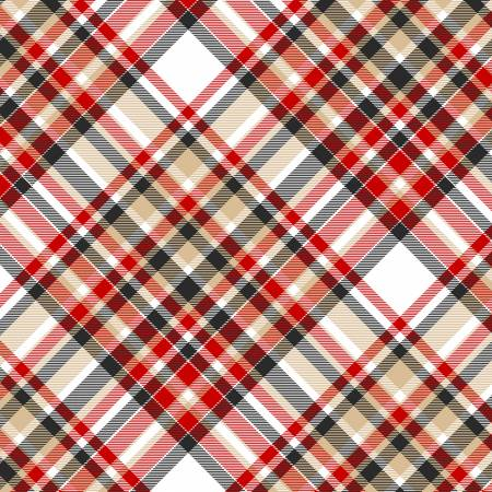 "Multi Color Bias Plaid 44"" fabric, Henry Glass, Timber Gnomies, 9276-89"
