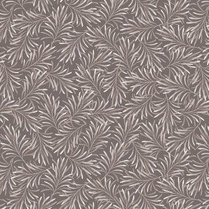 "Pewter Gray Leaves 108"" fabric, Benartex, 9661W-11, Boughs of Beauty"
