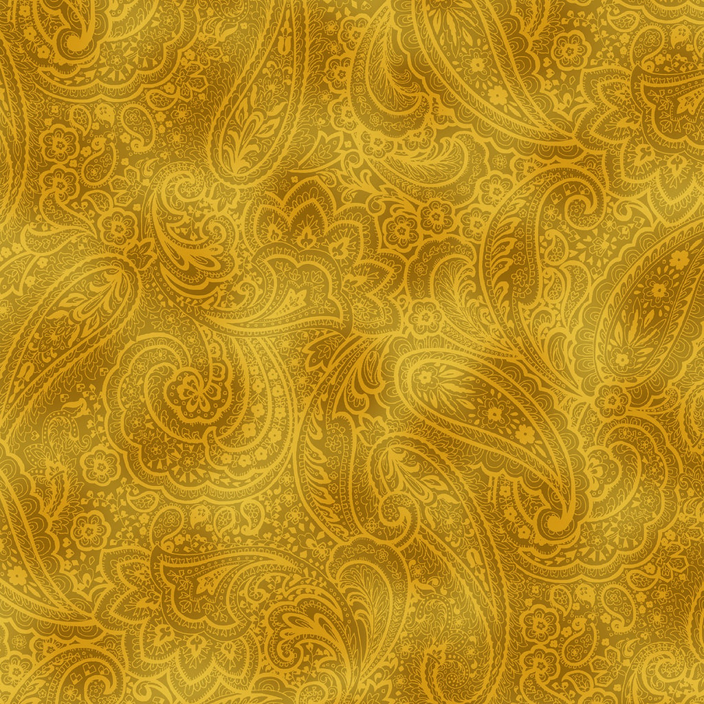 "Butternut Yellow Radiant Pasley 108"" fabric, Benartex ,  9747W-33"