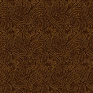 "Brown Paisley 108"" quilt fabric, Wilmington Prints, 9813-222"