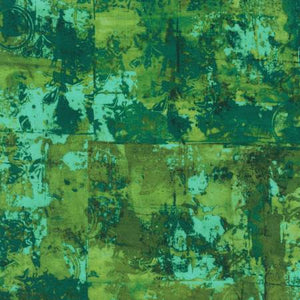 "Green and Teal 108"" fabric by Robert Kaufman, ANJXD-19798-48, Jungle Warehouse District"