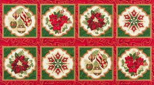 "Holiday Poinsettia with metallic 22"" Repeat by Robert Kaufman, Holiday Flourish 11, 17334223"