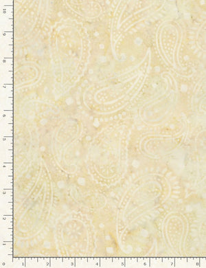 "Cream Paisley 106"" Batik by Timeless Treasures, Xtonga B5266"
