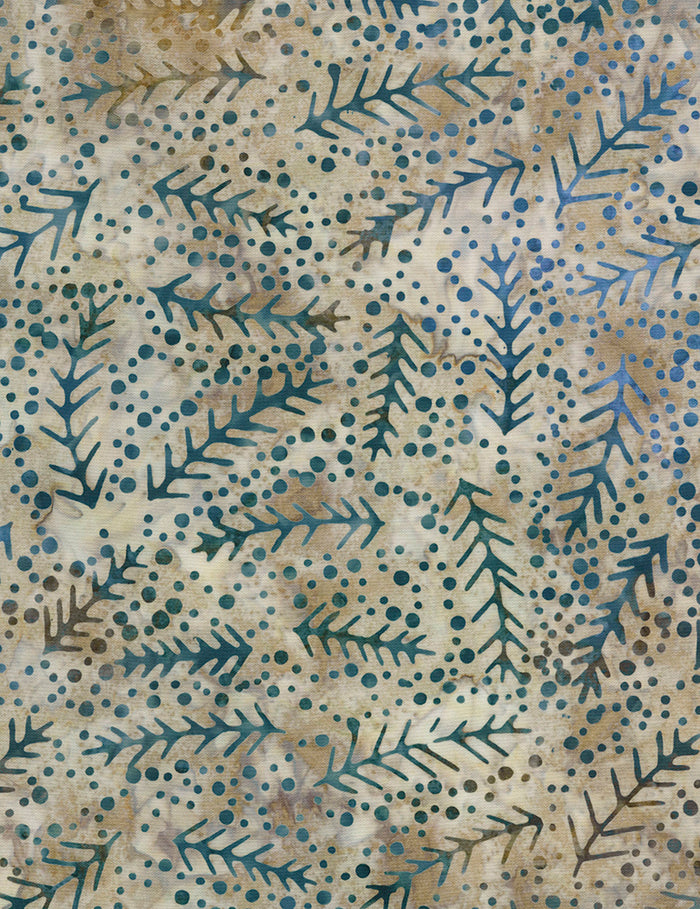 "Gray wet leaves 106"" batik - wide backing - Timeless Treasures - Xtonga-B6864-Coast"