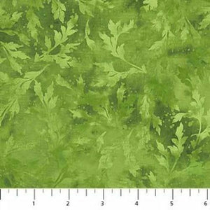 "Green Leaves Essence 108"" fabric by Northcott, B9025-77"