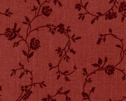 "Mauve red floral 108"" fabric by Choice,  BD-42250-103"