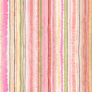 "Pink Multi colored stripe digital 44"" fabric by Timeless Treasures, CD7191, Floral Study"