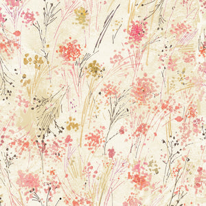 "Cream Floral digital 44"" fabric by Timeless Treasures, CD7192, Floral Study"