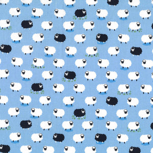 "Boy Following Ewe 44"" fabric by Michael Miller, Counting Sheep, CX8369-boy"