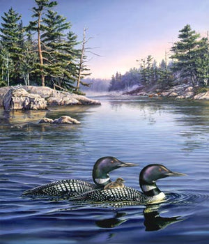 "Blue Loon Lake 36"" Digital Panel by Northcott,  DP21935-44"