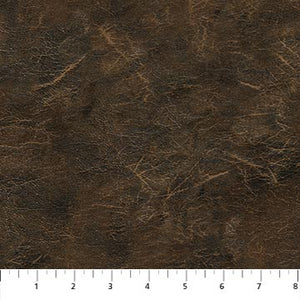 "Brown Leather Texture 44"" Flannel by Northcott,  F23562-36, Lakeside Lodge"